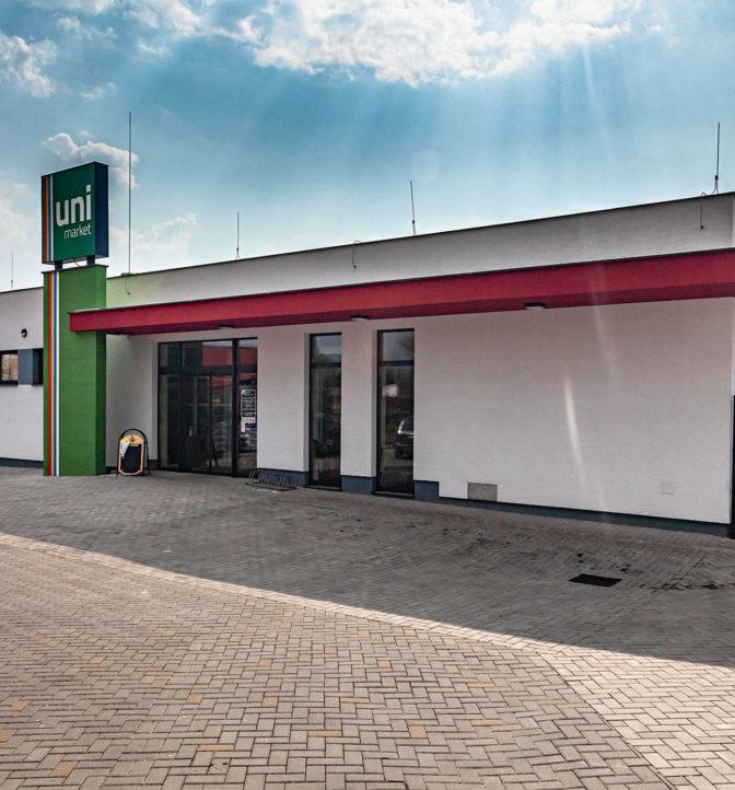 Obchodná budova Unimarket, Malé Uherce